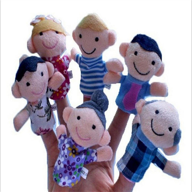 6pcs Story Telling Family Finger Puppets