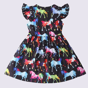 Fashion Letter Print Dovetail Summer Dress