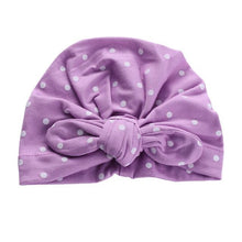 Load image into Gallery viewer, Sweet Dot Baby Girl Hat with Bow