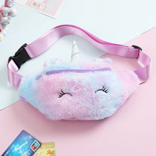 Load image into Gallery viewer, Cartoon Waist Plush Bag For Kids