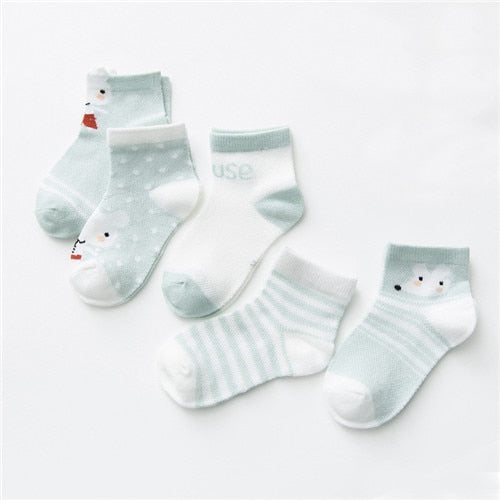 5 Pairs Infant Baby Socks