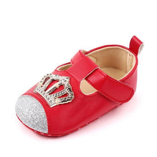 Load image into Gallery viewer, Pink Crown Princess Baby Leather Shoes