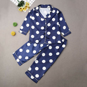 Boys Girls Kids Cartoon Dot Pajama Set