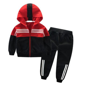 Children Sports Suit Hooded Outwears Tracksuit