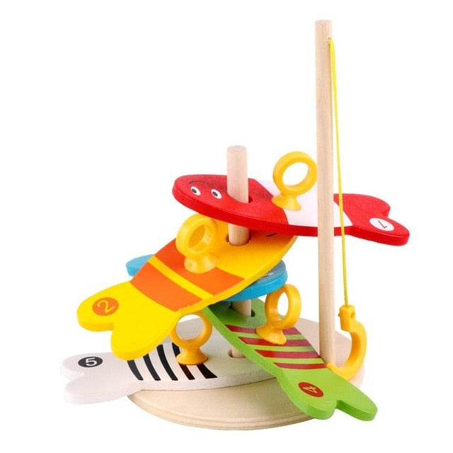 Learning Education Kids Wooden Fish Montessori Toys