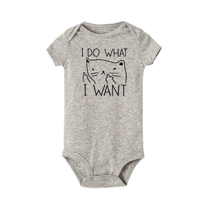 I Do What I Want Funny Printing Newborn Baby Romper
