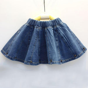Girls Cute Denim Skirt
