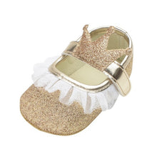 Load image into Gallery viewer, Baby Girl Princess Crowned Shoes