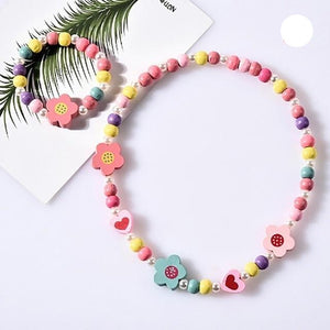 Wooden Beads Jewelry Set