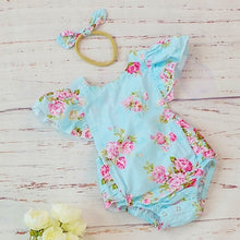 Load image into Gallery viewer, Floral Baby Girl Vintage Romper