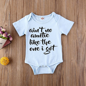 Auntie Letter Design Play-suit Barboteuse Vêtements