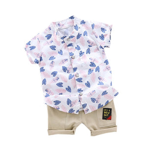 Leaf Print Summer Style Clothing Set