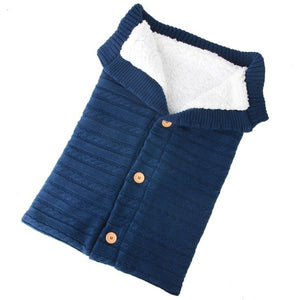 Newborn Baby Warm Knit Swaddle Wrap Stroller