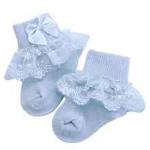 Load image into Gallery viewer, Bow Lace Baby Socks