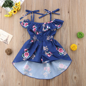 Newest Strap Rompers Jumpsuit Swallow Tail Skirt Summer Outfit