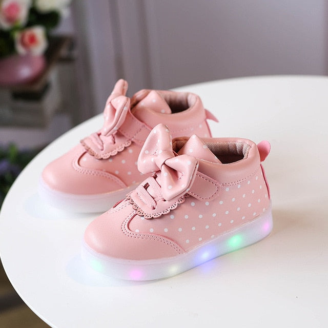 Glowing Baby Pink Shoes