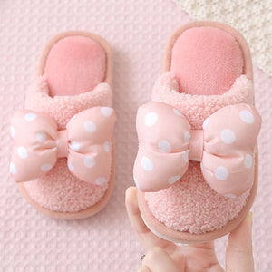 Kids Velvet Slippers