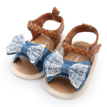 Load image into Gallery viewer, Girls Canvas Bow knot Beach Shoes