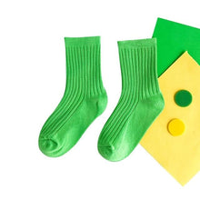 Load image into Gallery viewer, Cotton Colorful Long Socks For girls
