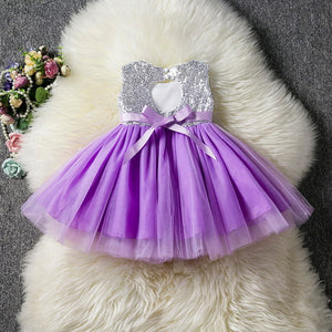 Baby Sequins Flower Girl Dress