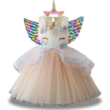 Load image into Gallery viewer, New Girls Unicorn Party Dress