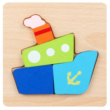 Load image into Gallery viewer, Wooden Jigsaw Educational Puzzles Toys