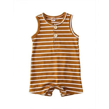 Load image into Gallery viewer, Infant Baby Striped Clothes Sleeveless Rompers