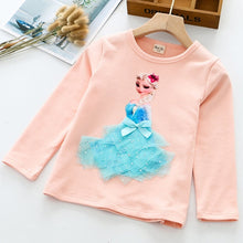 Load image into Gallery viewer, Princess 3D Printed T Shirt For Girls