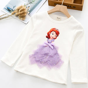 Princess 3D Printed T Shirt For Girls