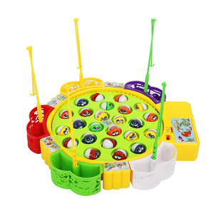 Fishing Game Toy Set with Rotating Board
