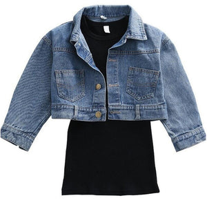 Denim Jacket pair with Dress New Spring Outfit
