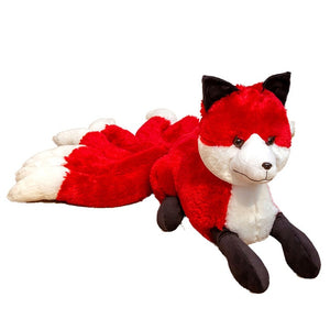 Cute White Red Nine Tails Fox Soft Plush Toy