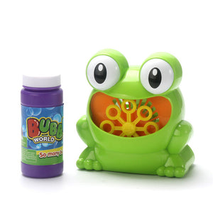 New Cute Frog Automatic Bubble Machine