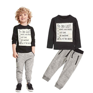Casual Kids Boys Clothing Set