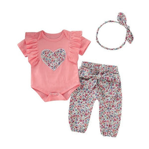 Newborn Girls Clothes Set With Hairband