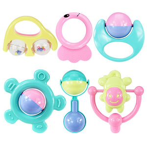 6Pcs/set Baby Teether Rattles Toy