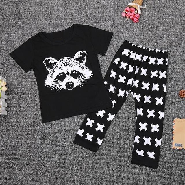 Baby Fox Cotton Tops T-shirt+Pants Leggings