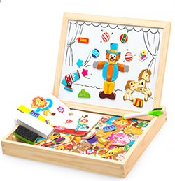 Smart Educational Wooden Magnetic Puzzle Board
