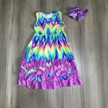 Load image into Gallery viewer, Summer Girls Pastel Wave Tie-Dyed Clothes