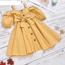 Load image into Gallery viewer, Fashion Girls Short Sleeve Cotton Dresses