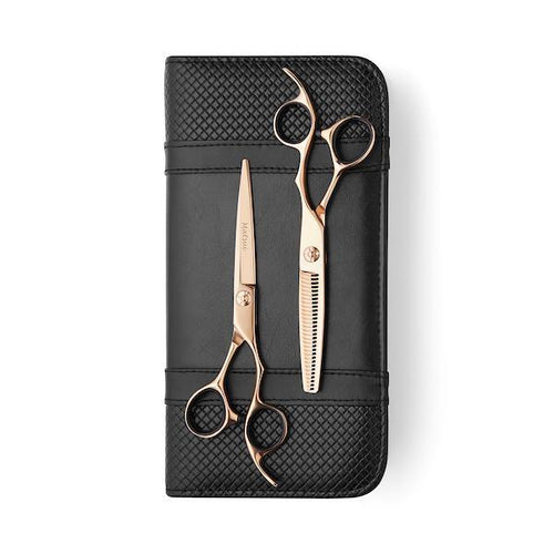 Matsui Rose Gold Aichei Mountain Offset Scissor Thinner Combo