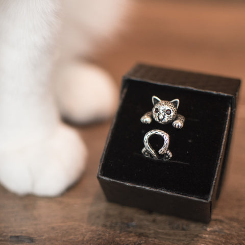 Product photo for Snuggle Cat Ring