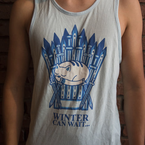 Chest shot for Winter Can Wait Unisex Tank