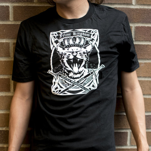 Chest shot for Feline Kingdom Unisex Crewneck T-Shirt