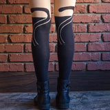 Cat Face Women Velvet Thigh Leggings - Meowtropolitan Trading