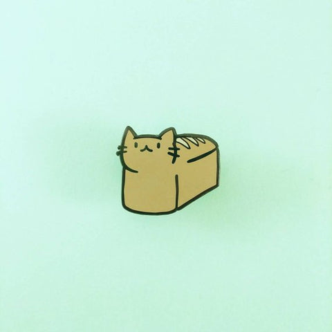 Bread Loaf Cat Enamel Pin-made by Squeak - Meowtropolitan Trading