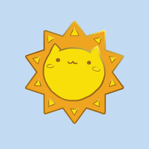 Sun Cat Enamel Pin-made by Squeak - Meowtropolitan Trading