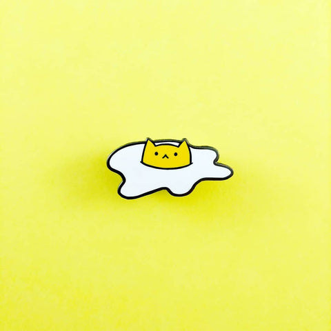 Sunny the Egg Cat Enamel Pin-made by Squeak - Meowtropolitan Trading