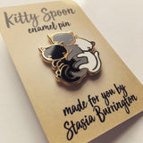 Kitty Spoon enamel pin-by Stacia Burrington - Meowtropolitan Trading