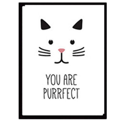 """You Are Purrfect"" Canvas Print"